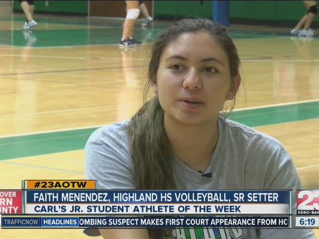 Athlete of the Week Menendez