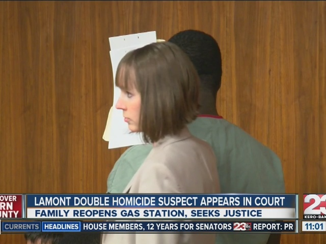 Lamont double homicide suspect appears in court