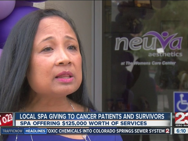 Local spa giving to cancer patients and survivors