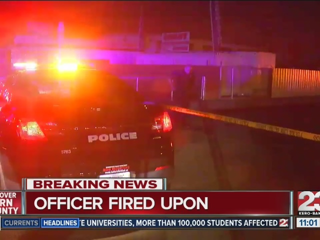 Officer shot at in S Bakersfield