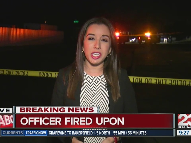 Officer shot at in South Bakersfield