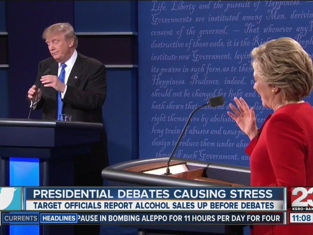 Alcohol sales up because of debates
