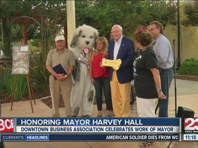 Downtown Business Association honors Harvey Hall