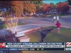 Halloween decoration thief caught on camera