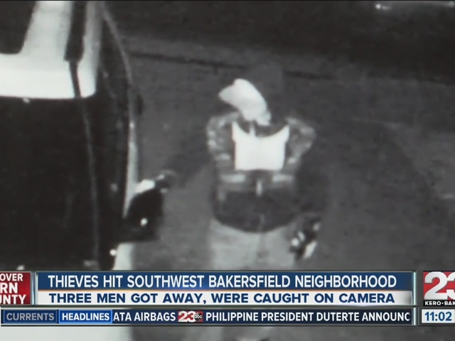 Thieves hit southwest Bakersfield neighborhood