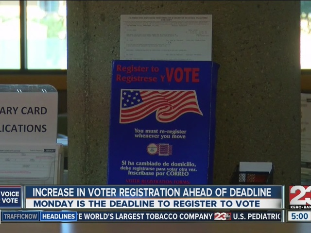 Increase in voter registration days ahead of registration deadline