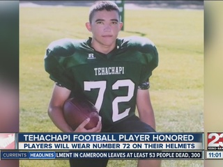 Tehachapi football honors former teammate