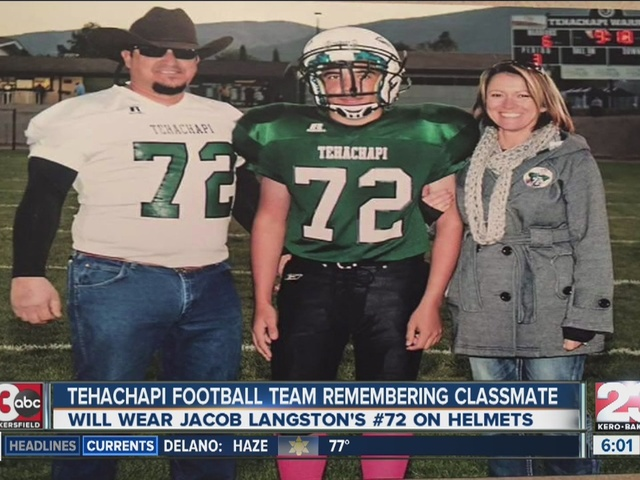 Tehachapi football team remembers classmate