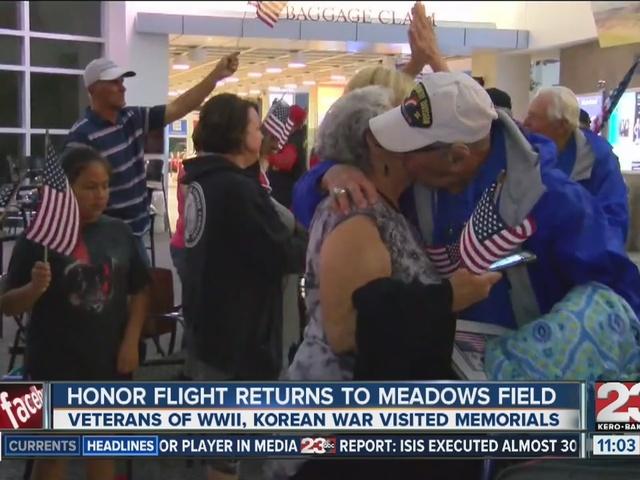 Last honor flight returns