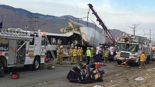 13 people killed in tour bus near Palm Springs