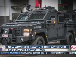KCSO new armored vehicle approved