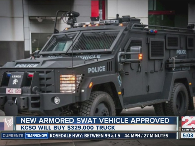 Armored SWAT vehicle approved
