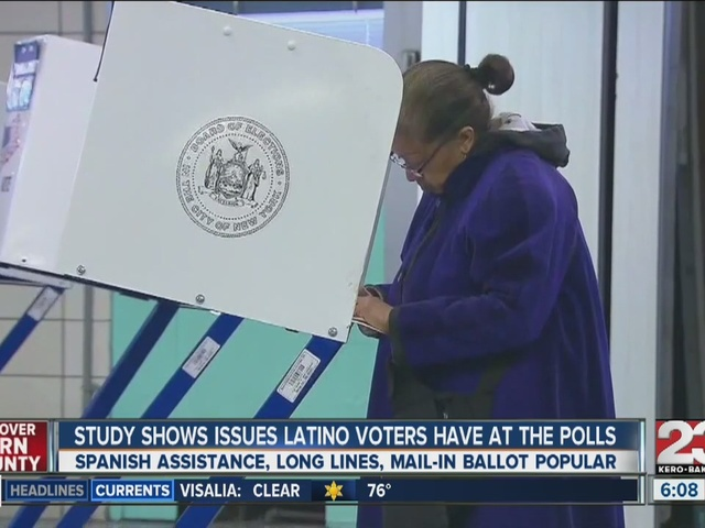 Study shows issues Latino voters have at the polls