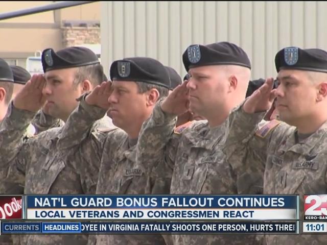 Veterans respond to National Guard bonus issue