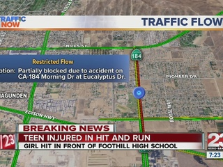 Teen hit, injured in front of Foothill HS