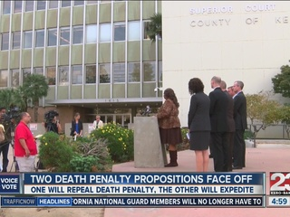 Two death penalty propositions face off