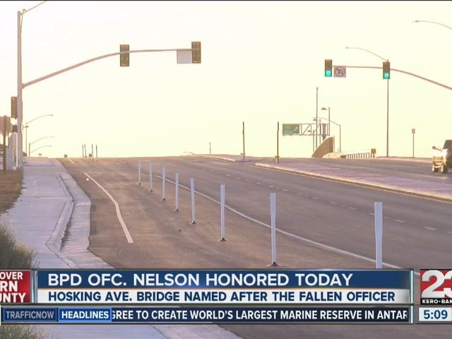 Bridge over Highway 99 renamed to honor Officer David Nelson