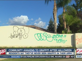 Community awakens to graffiti after Halloween