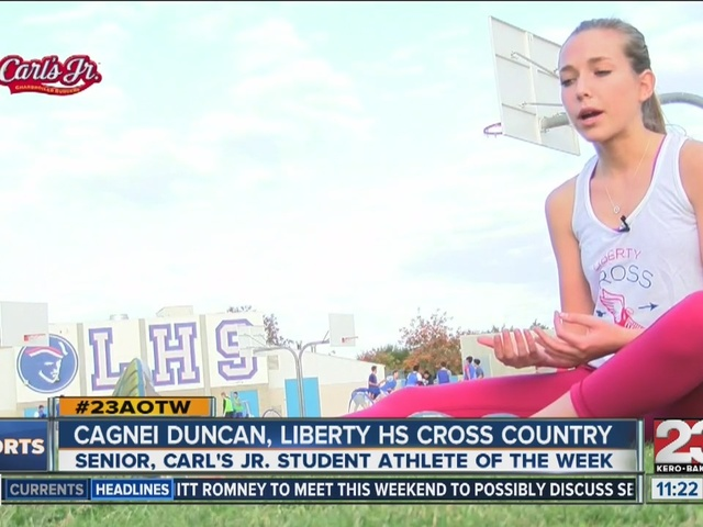 Athlete of the Week Cagnei Duncan