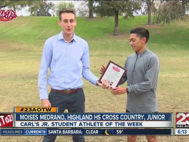 Moises Medrano named 23ABC's male AOTW