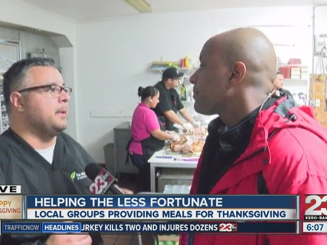 The Mission providing Thanksgiving meals