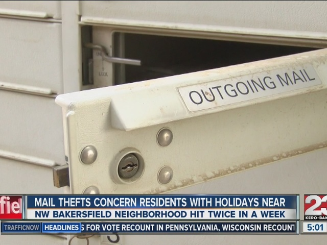 Recent mail theft leaves NW Bakersfield community concerned