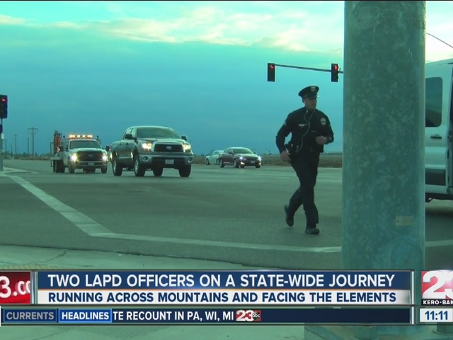 Two LAPD officers on a state-wide journey