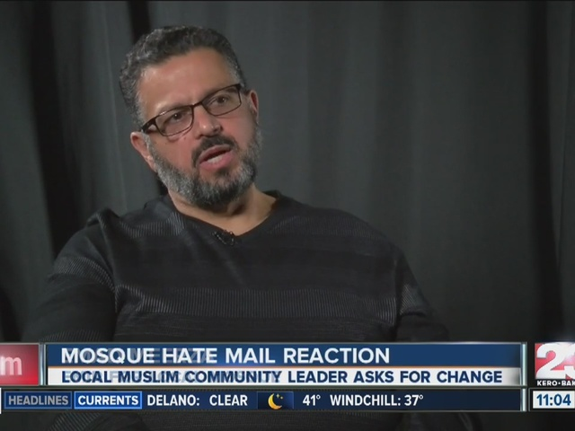 Local reaction to Mosque hate mail