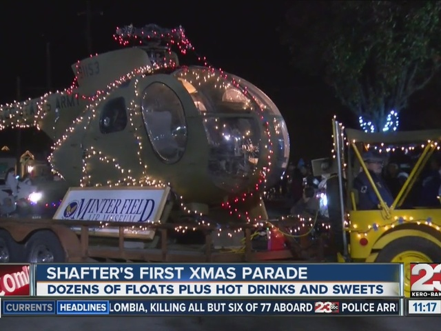 Shafter's first Christmas parade