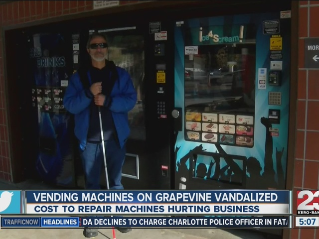 Vending machines ran by Bakersfield blind man burglarized