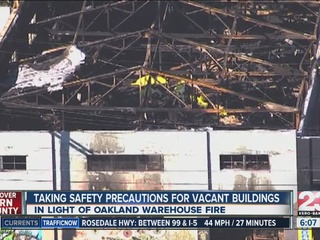 Taking safety precautions for vacant buildings