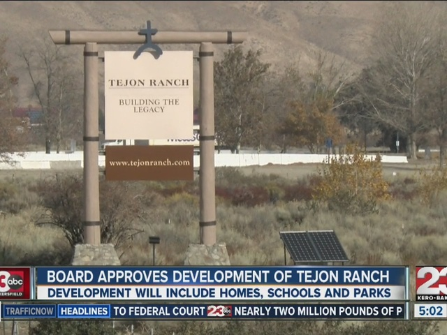 Board of Supervisors approve Tejon Ranch project