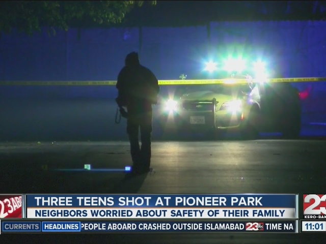 Three teens shot in East Bakersfield