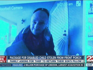Package for disabled child stolen