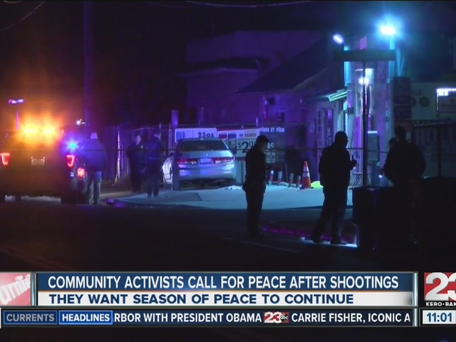 Activists call for peace after recent shootings