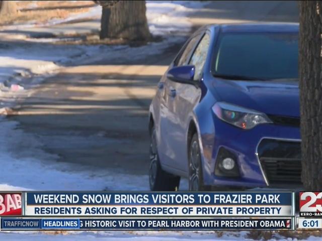Weekend snowfall brings visitors to Frazier Park