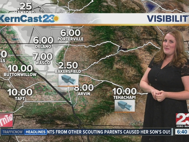 Foggy weather for Kern County on December 29