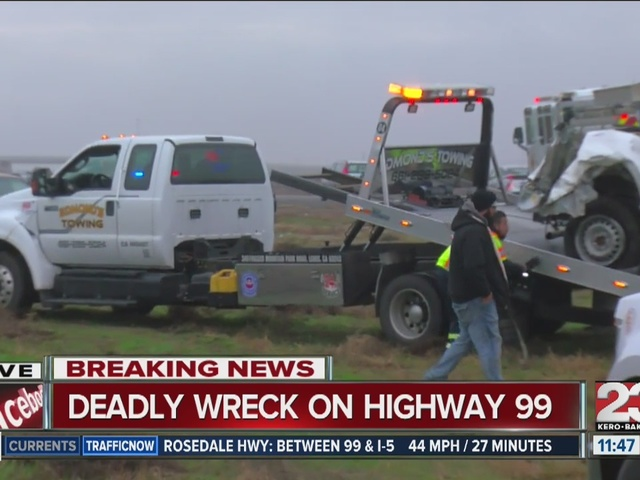 Deadly wreck on Highway 99
