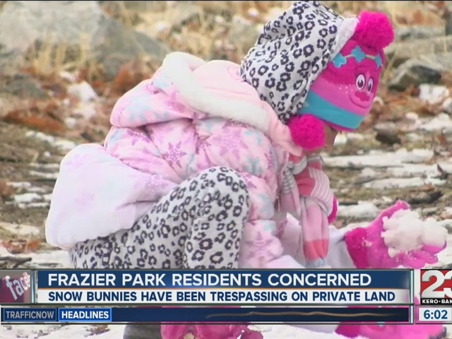 Snow bunnies causing concerns for mountain residents