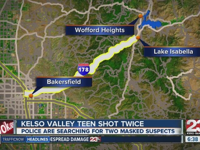 Kelso Valley teen shot twice