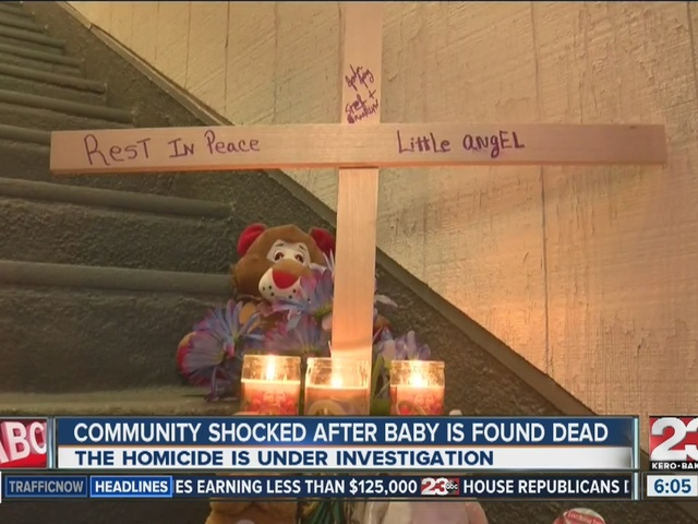 Neighbors mourn death of 8-month-old as mother's boyfriend is arrested…