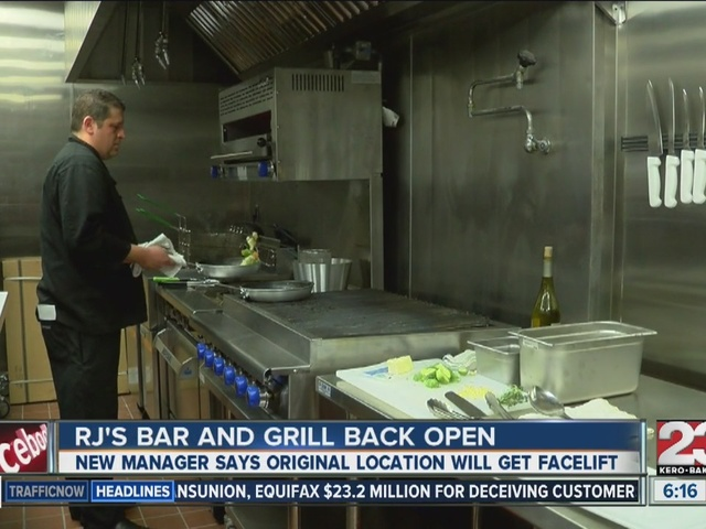 RJ's Bar and Grill back open