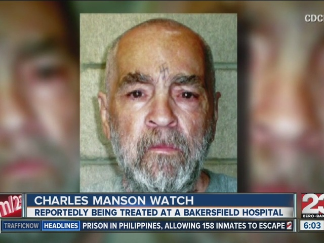 Charles Manson hospitalized in Bakersfield