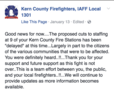 KCFD staffing cuts may be delayed