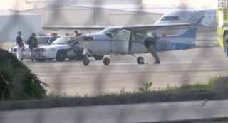 Plane makes emergency landing at local airport