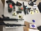 Police find firearms, marijuana during search