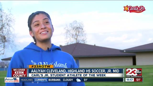 Female Athlete of the Week- Aaliyah Cleveland