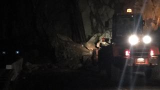 Highway 178 closes again due to rock slides