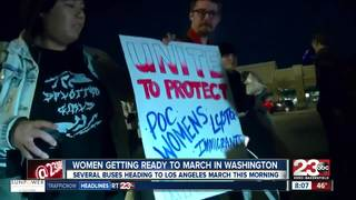 Locals head to Women's March in Los Angeles