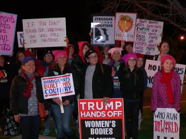 Locals return from Women's March in Los Angeles